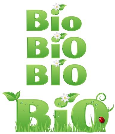 pesticida: Cuatro signos Bio Bio  Cuatro signos de dise�o ecol�gico Vectores