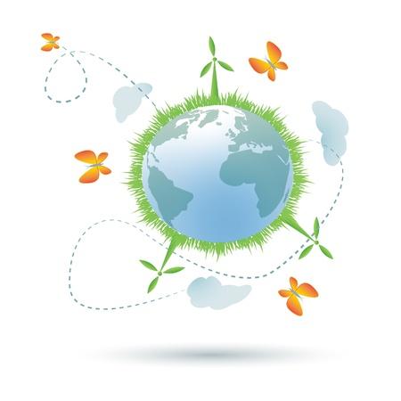 Eco--planet symbol