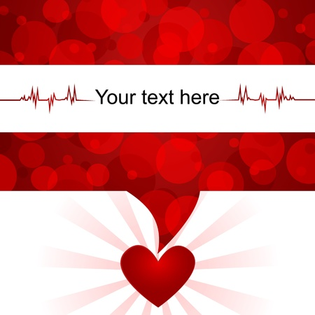 Blood donation background/Text bubble with abstract blood-cells,heart and space for text
