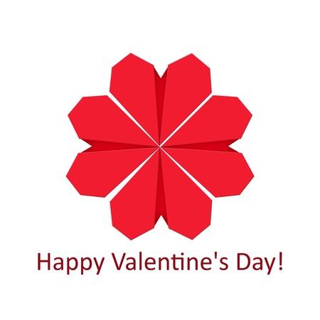 Heart shape flower/Origami hearts form flower Stock Photo - 17132143