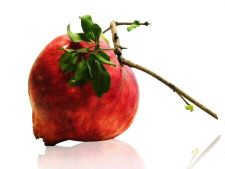 Pomegranate/Big red pomegranate isolated on white Stock Photo - 17922968