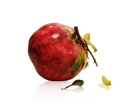 Pomegranate/Big red pomegranate isolated on white Stock Photo - 17922966
