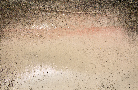 Wet sand washed by sea tide background