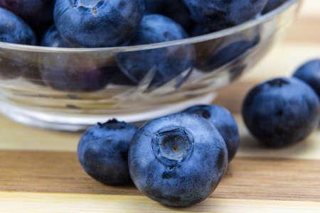 Macro shot of fresh ripe blueberries