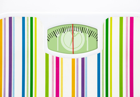 dial plate: Bathroom scale with carrot on plate dial with lines no numbers