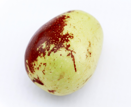 national fruit of china: Jujube fruit closeup,isolated on white background