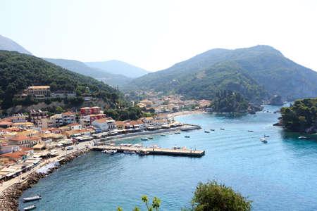 coastal city: Picturesque coastal city of Parga Greece Stock Photo