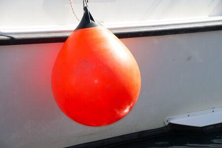 fender: Closeup on blank  boat fender ball