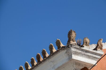 pilasters: Rooftop with Akrokeramo, ceramic decorative antefix.