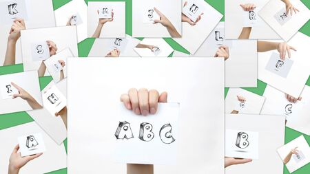 collage alphabet: Fun collage with capital letters of the alphabet