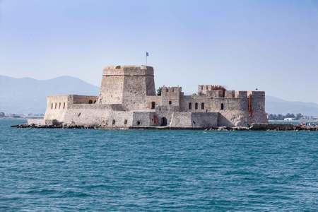 nafplio: Bourtzi water fortress of Nafplio, Greece Stock Photo