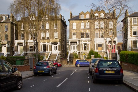 typically british: LONDON, UK - April, 13: Row of Typical English Houses in London Editorial