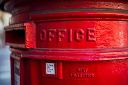 traditional English red mailbox