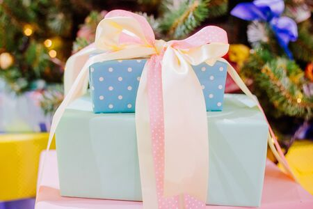 cajas navideñas: Christmas Gift boxes in color Shabby chic