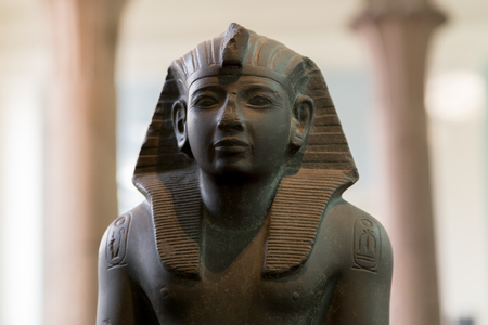 UK, London - April 08, 2015: British Museum. Bust of King Ramesses IV
