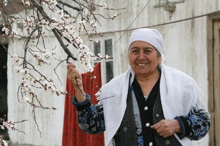 Bukhara, UZBEKISTAN - March 08, 2009: Portrait of unidentified Uzbek women