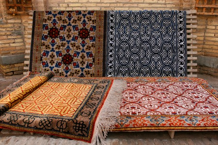 oriental rug: Carpets made by hand
