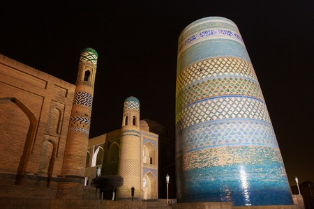 unfinished Kalta Minor Minaret minaret Muhammad Amin Khan 19th century . Khiva, Uzbekistan