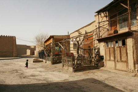 Khiva, Uzbekistan - March 08, 2009: Poverty in Uzbekistan. Everyday life