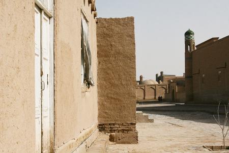 A typical street in Khiva, Uzbekistan
