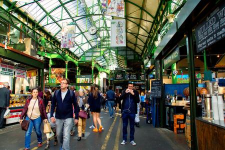UK, London - April 08, 2015: Unidentified people visit Borough Market in London Sajtókép