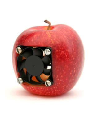apple with a cooler inside photo