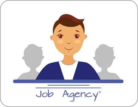 Illustration of employment agency, worker Illusztráció