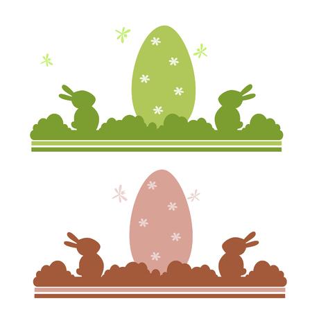 Easter egg background with bunnies Illusztráció