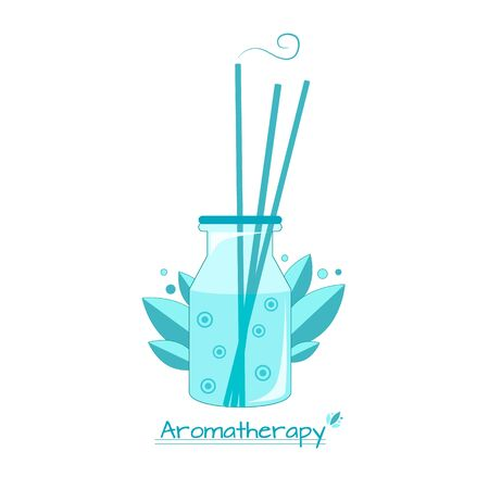 Vector illustration alternative medetsina aromatherapy