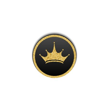 Vector illustration of gold crown jewelry