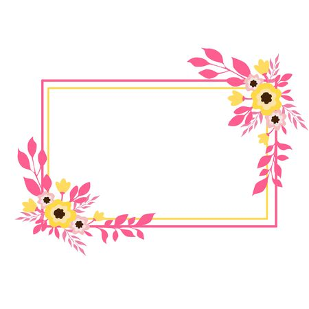 Vector illustration of a square floral frame Illusztráció