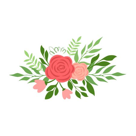 Vector illustration of a bouquet of roses