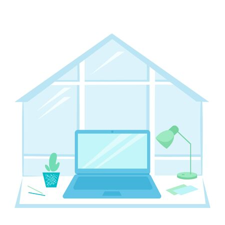Vector stock illustration home office for work Illusztráció