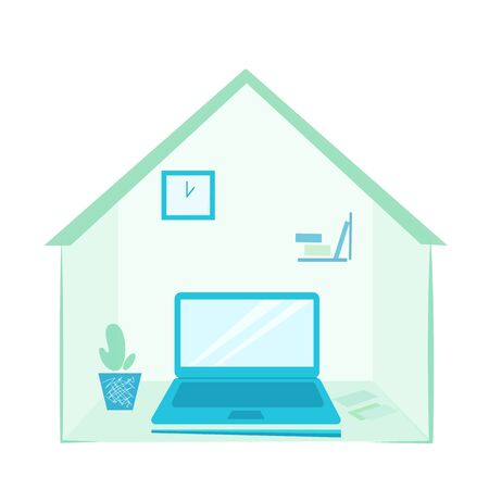 Vector stock illustration home office Illusztráció
