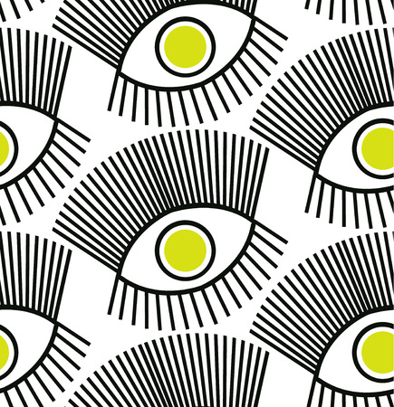cilia: Seamless pattern with an eyes