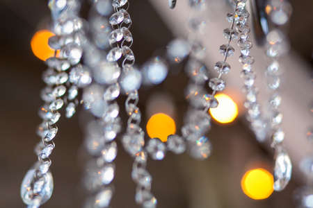 light chains: Lamp crystal in light background Stock Photo