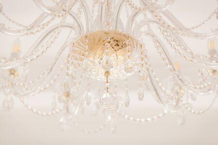 chandelier background: beautiful crystal chandelier in a room