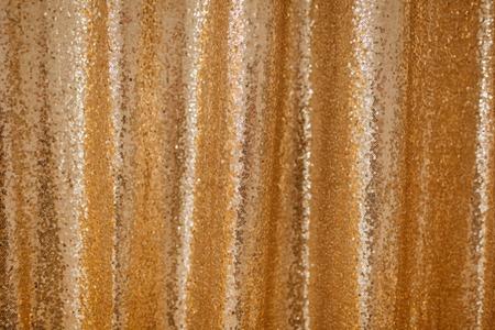 Golden Sequence Beaded Background Glitter Pattern