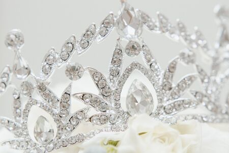Stylish Jewelry Diadem with Brilliant Diamond Фото со стока