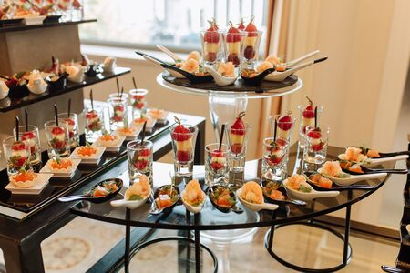 Delicious Snacks Assortment on Table Photography