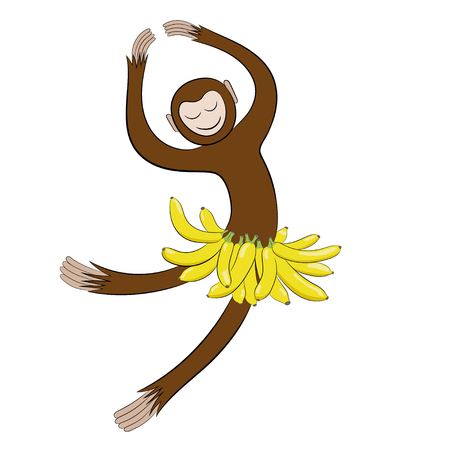 minx: Monkey in a skirt of bananas.