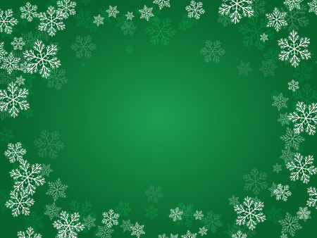 exultation: Christmas background with snowflakes for your design. Illustration