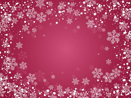 snowfalls: Christmas background with snowflakes for your design. Illustration
