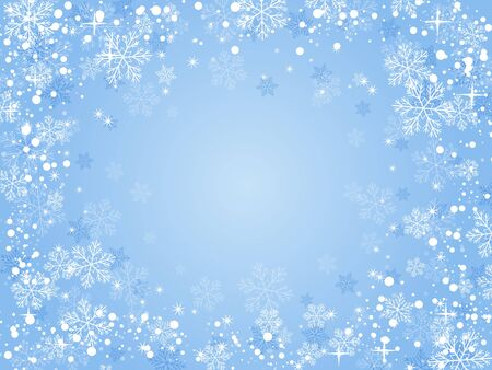 あなたのデザインのための雪とクリスマスの背景。  イラスト・ベクター素材