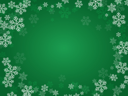 blizzards: Christmas background with snowflakes for your design. Illustration