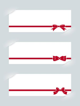 felicitation: Template with ribbons for your design.