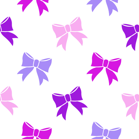 playroom: Bows on white background. Seamless pattern. Illustration