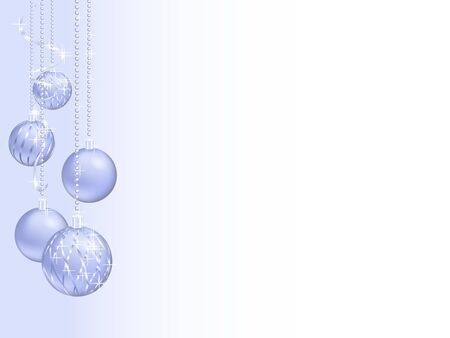 felicitation: Silver christmas background with christmas balls Illustration