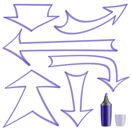 reference point: A set of arrows on a white background. Illustration