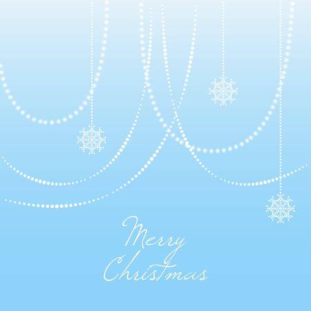 felicitation: Blue christmas background with christmas snowflake Illustration